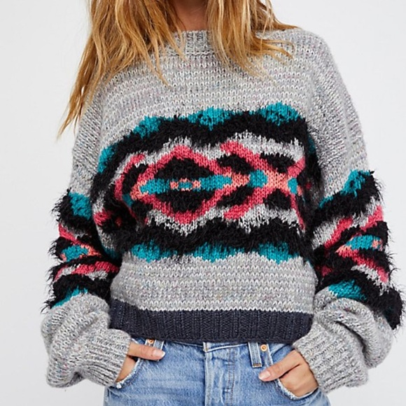 55% off Free People Sweaters - NWT Free People I heart you sweater ...